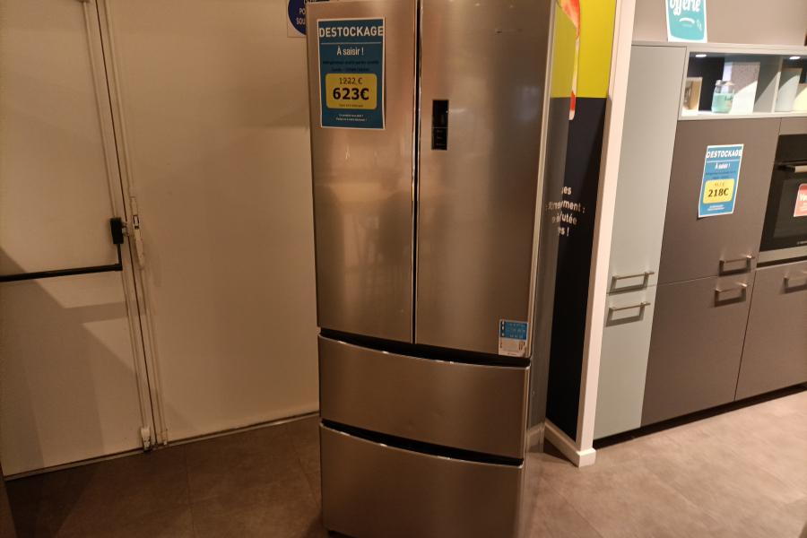 Réfrigérateur multi-portes inox Candy