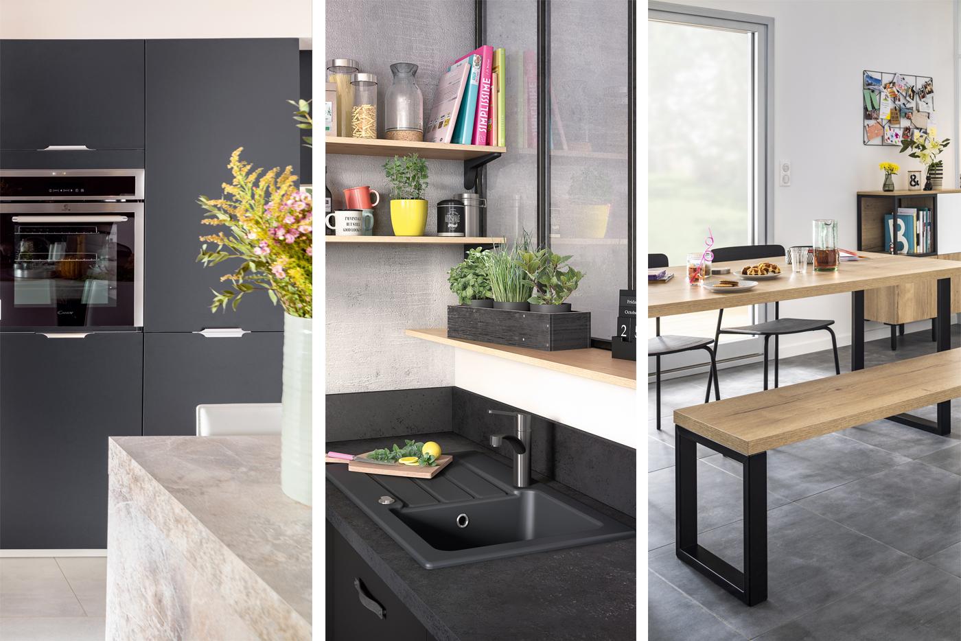 Les équipements de la cuisine équipée : électros, éviers et espace repas