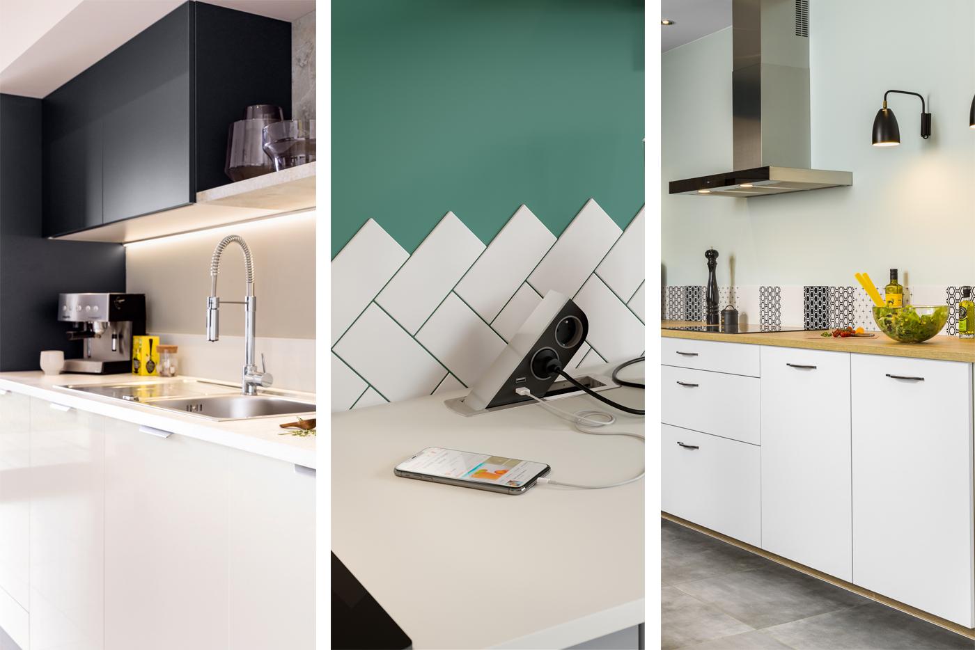 Les équipements de la cuisine équipée : façades, plans de travail et accessoires