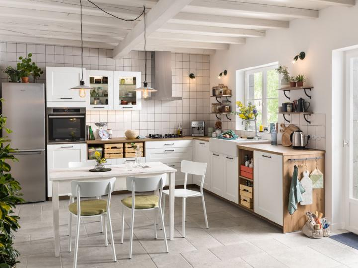 Cuisine blanche ambiance campagne