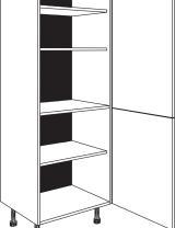 Armoire 1 porte avec étagères