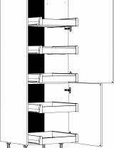 Armoire 2 portes, étagères et tiroirs à l'anglaise