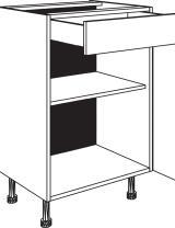 Meuble bas 1 tiroir, 1 porte et 1 étagère réglable
