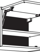 Meuble haut, 1 porte relevable, étagère(s)