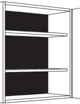Meuble haut, portes et étagères réglables
