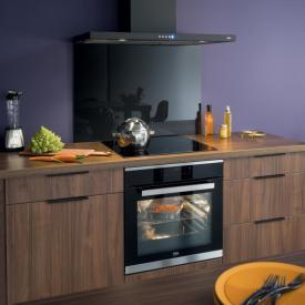 Espace cuisson noire et bois