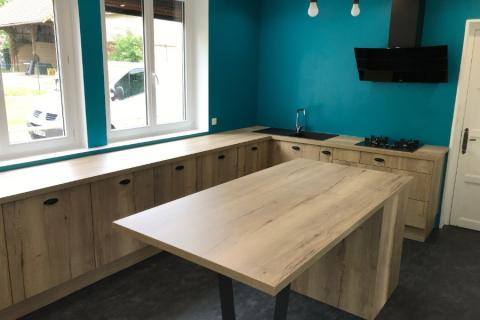 Une magnifique cuisine en bois !, une cuisine réalisée par SoCoo'c Caen