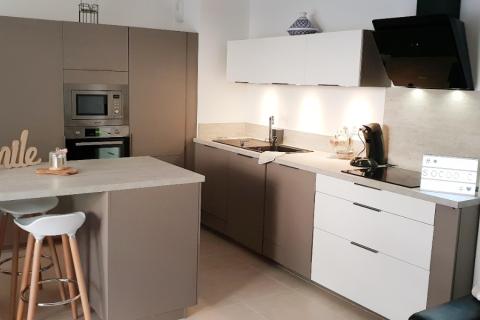 Une cuisine bicolore !