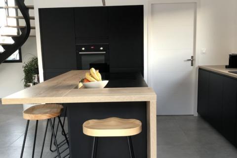 La cuisine de Claire et Laurent , une cuisine réalisée par SoCoo'c Nantes Basse Goulaine