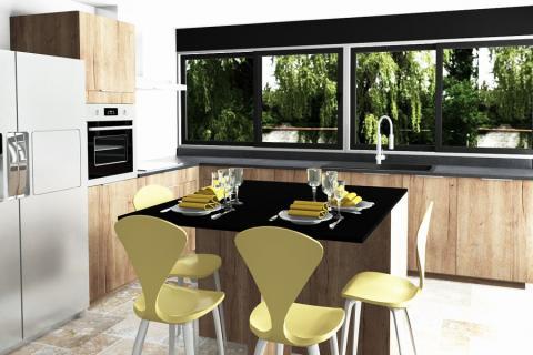 Superbe cuisine réalisée avec Mégane, une cuisine réalisée par SoCoo'c Plan de Campagne