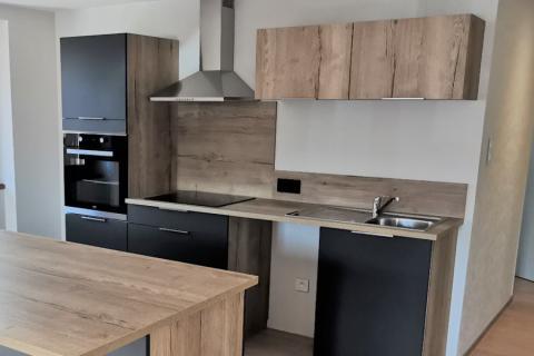 Cuisine style indus noir et bois, une cuisine réalisée par SoCoo'c Colmar