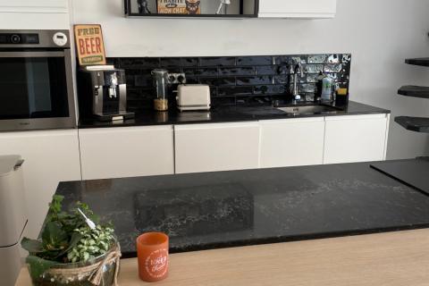 Cuisine design, tendance et moderne tout en simplicité , une cuisine réalisée par SoCoo'c Douai