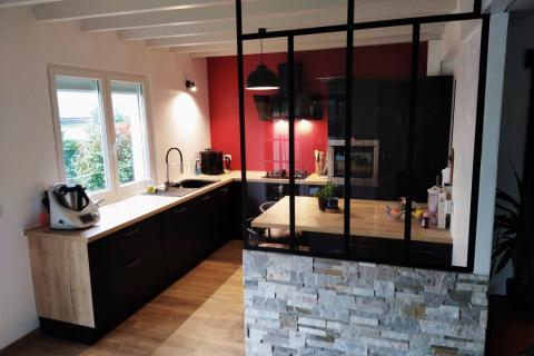 La cuisine de Lucie, Marty et Malo!, une cuisine réalisée par SoCoo'c Vannes