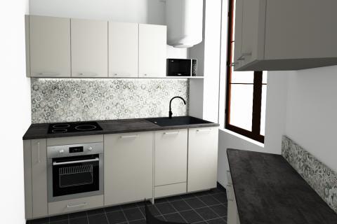 Appartement lyonnais avec Mégane, une cuisine réalisée par SoCoo'c Plan de Campagne