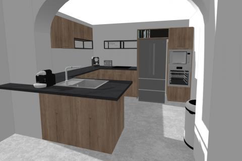 La cuisine familiale moderne par Mégane, une cuisine réalisée par SoCoo'c Plan de Campagne