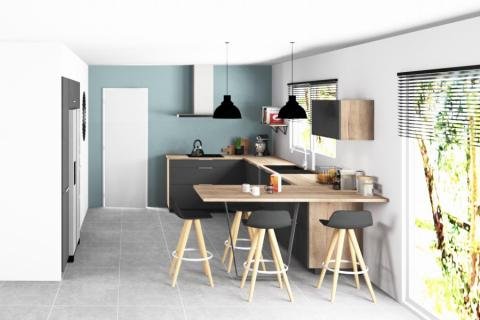 Esprit pratique et convivial , une cuisine réalisée par SoCoo'c Seclin