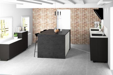 Modernité et patrimoine , une cuisine réalisée par SoCoo'c Seclin
