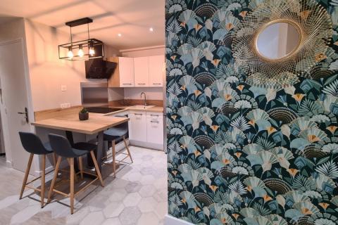 Une cuisine blanche et bois réalisée par Laurine, une cuisine réalisée par SoCoo'c Plan de Campagne