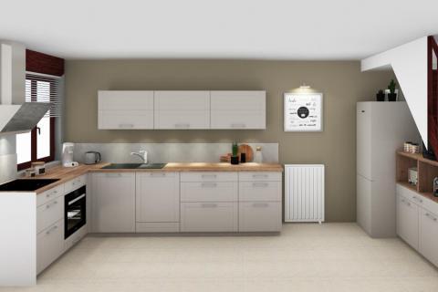 Un vent de modernité sur un esprit campagne, une cuisine réalisée par SoCoo'c Seclin