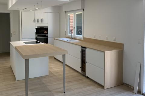 Une cuisine efficace et intemporelle chez Mr et Mme R, une cuisine réalisée par SoCoo'c Marquette Lez Lille