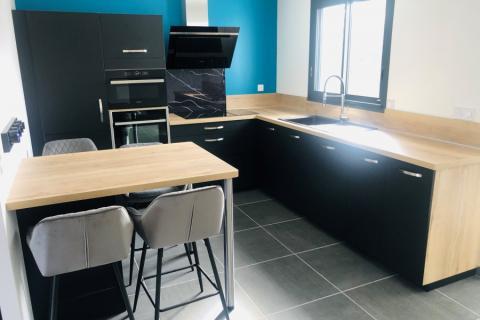 La cuisine de Jonathan et Aurélie, une cuisine réalisée par SoCoo'c Redon