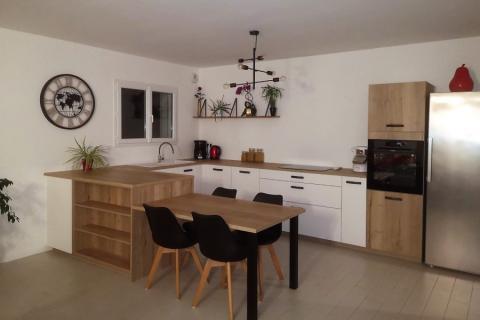 La cuisine d'Alexandre et d'Anaëlle, une cuisine réalisée par SoCoo'c Redon