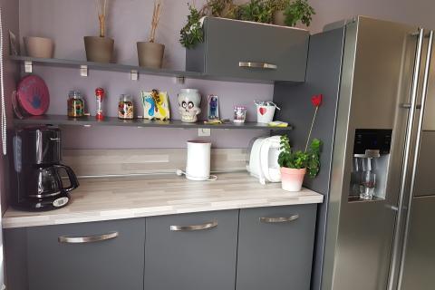 Anthracite, moderne et optimisée , une cuisine réalisée par SoCoo'c Caen