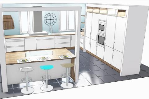 De la conception à la pose ! , une cuisine réalisée par SoCoo'c Osny