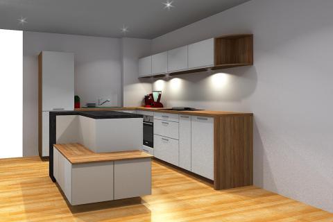 La cuisine ouverte de Claire et Alexis, une cuisine réalisée par SoCoo'c Paris Sebastopol