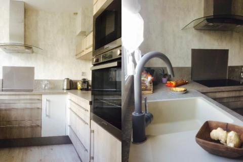 Un petit espace bien pensé !, une cuisine réalisée par SoCoo'c Caen