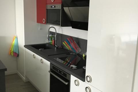 Cuisine ouverte chez Julie et Stéphane , une cuisine réalisée par SoCoo'c Lille Villeneuve d'Ascq
