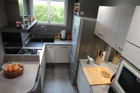Cuisine petit espace, une cuisine réalisée par SoCoo'c Evreux