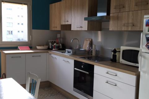 La cuisine bois qui me ressemble , une cuisine réalisée par SoCoo'c Montpellier Lattes