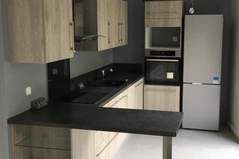 Une cuisine equipée au style industriel!