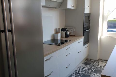 Cuisine tendance pour une rénovation, une cuisine réalisée par SoCoo'c Saint Brieuc/Langueux