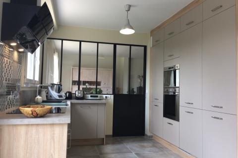 La cuisine avec verrière atelier de Mariele