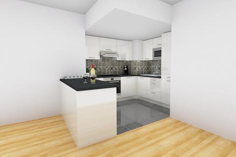 La cuisine blanche d'Olivier, une cuisine réalisée par SoCoo'c Paris Sebastopol