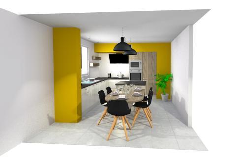 La cuisine en L d'Anne , une cuisine réalisée par SoCoo'c Sens