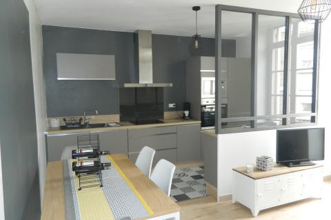 La cuisine design industriel de Monsieur P.