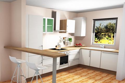 Modèle Mezzo - cuisine en L , une cuisine réalisée par SoCoo'c Rennes Melesse