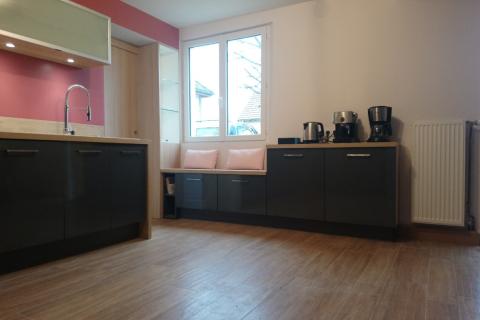 La cuisine en L de Jean-François, une cuisine réalisée par SoCoo'c Troyes