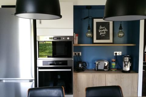 Une cuisine dans l'air du temps !, une cuisine réalisée par SoCoo'c Clermont Aubière