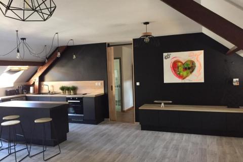 Une cuisine à la fois élégante et chaleureuse, une cuisine réalisée par SoCoo'c Boulogne sur Mer