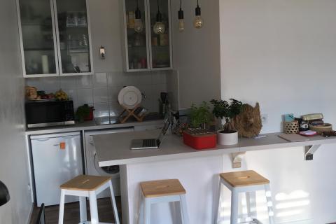 Une kitchenette lyonnaise qui a du style