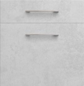 Façade de cuisine Mezzo cimento clair structuré avec poignée
