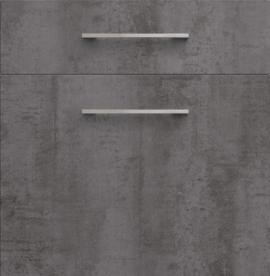 Façade de cuisine cimento anthracite structuré avec poignée