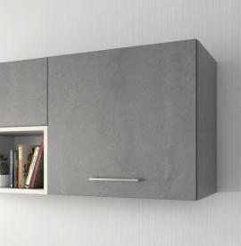 Façade de cuisine Mezzo cimento gris structuré avec poignée