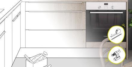 Tuto pose cuisine poser un meuble bas sous cuisson
