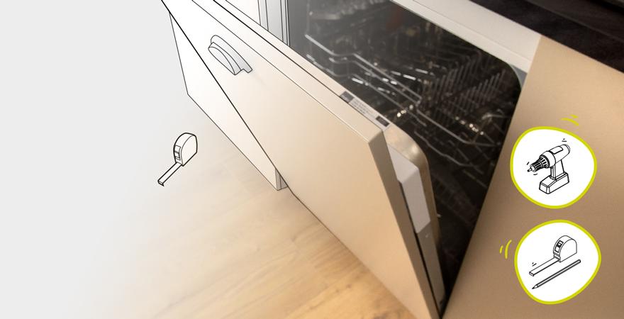 Tuto pose cuisine lave-vaisselle avec porte à glissières
