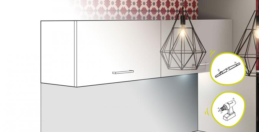 Tuto pose cuisine meuble haut